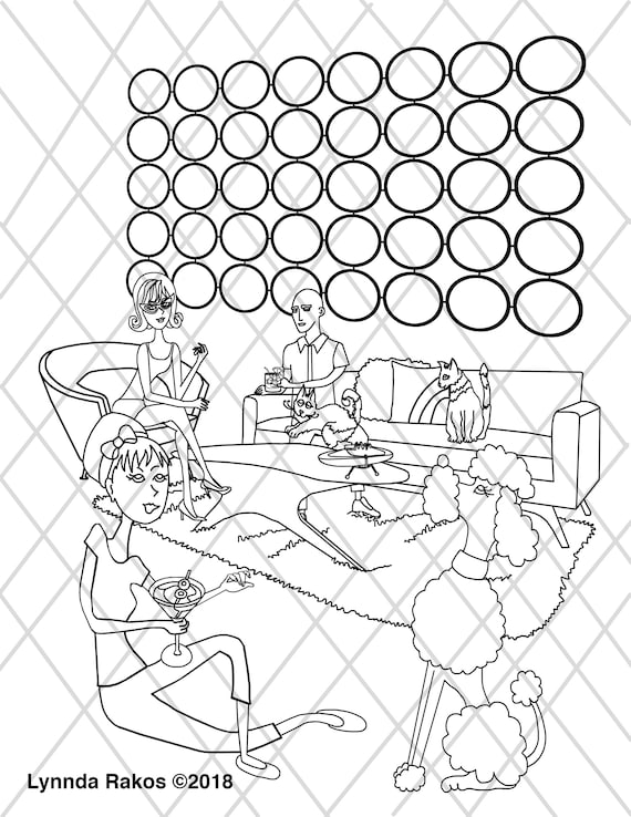 MCM, instant download Coloring Page, colouring sheet printable coloring,  print and color diy printable downloadable, Gift for Her, coloring