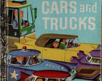 Cars and Trucks a Little Golden Book * Richard Scarry * 1978 * Vintage Kids Book