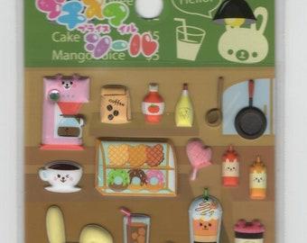 Petit Seal * Cafe * Bakery * Food * Sticker Set * Japanese Stationery