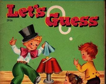 Let's Guess * Whitman Publishing * 1954 * Vintage Kids Book