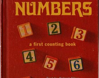 Numbers a First Counting Book * Robert Allen * Mottke Weissman * 1968 * Vintage Kids Book