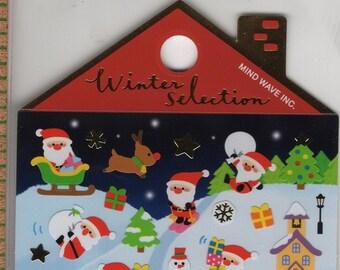 Mind Wave * Winter Selection * Santa * North Pole * Japanese Sticker Set