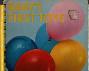 Baby's First Toys Board Book * 1967 * Vintage Kids Book