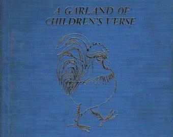 A Garland of Children's Verse * Barbara Taylor Bradford * Ota Janecek * 1960 * Vintage Kids Book