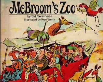 McBroom's Zoo + Sid Fleischman + Kurt Werth + 1972 + Vintage Kids Book