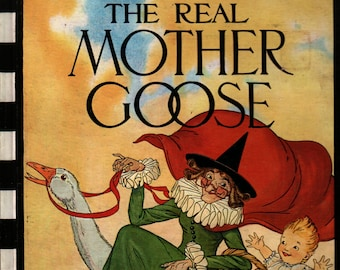 The Real Mother Goose + Blanche Fisher Wright + 1976 + Vintage Kids Book