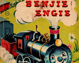 Benjie Engie a Rand McNally Super Book + Louise Lawrence Devine + Eleanor Corwin + 1950 + Vintage Kids Book