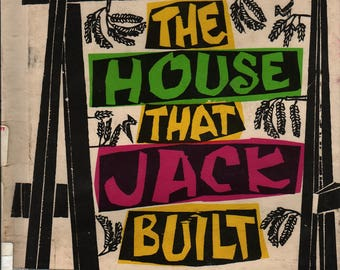 The House That Jack Built A picture book in two languages + French / English + Antonio Frasconi (woodcuts) + 1958 + Vintage Kids Book