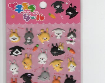 Petit Seal * Bunny Paradise * Puffy Stickers * Japanese Stationery