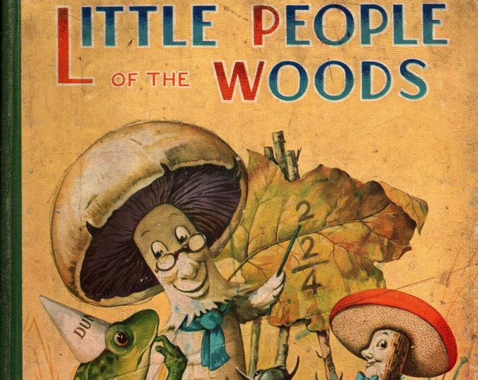 Featured listing image: The Little People of the Woods + Birn Brothers + 1940s + Vintage Kids Book