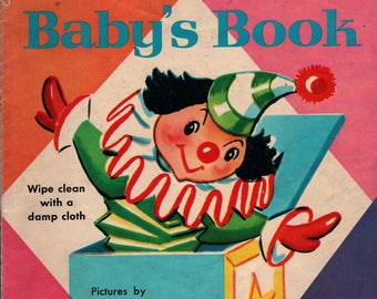 Baby's Book a Rand McNally Duroplast Book + Dorothy Grider + 1963 + Vintage Kids Book