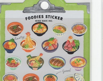 Mind Wave * Foodies Sticker * Donburi Bowl * Sticker Set * Japanese Stationery