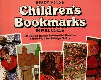 Children's Bookmarks in Full Color: 30 Different Markers Perforated for Easy Detaching + 1985 + Vintage Kids Book