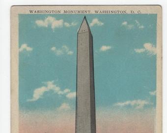Washington Monument * DC * B S Reynolds * Vintage Postcard
