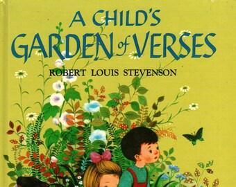 A Child's Garden of Verses + Robert Louis Stevenson + Gyo Fujikawa + 2002 + Vintage Kids Book