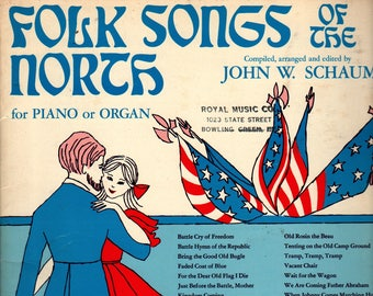Folk Songs of the North for Piano or Organ + John W. Schaum + 1961 + Vintage Music Book