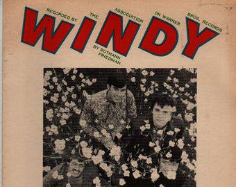 Windy Recorded by the Association * Ruthann Friedman * 1968 * Vintage Sheet Music