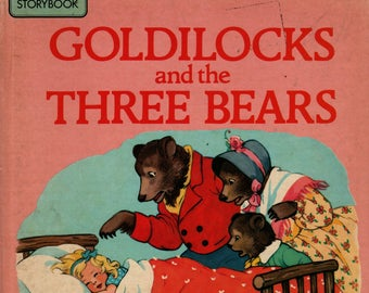 Goldilocks and the Three Bears See and Say Storybook + 1986 + Vintage Kids Book