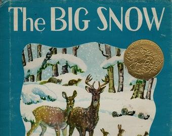 The Big Snow * Berta and Elmer Hader * 1976 * Vintage Kids Book