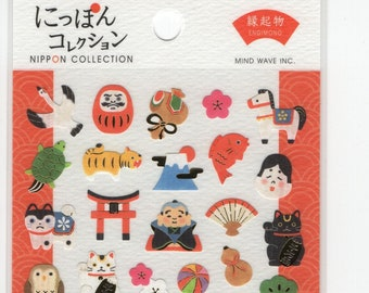 Mind Wave * Nippon Collection * Fortune * Daruma * Maneki Neko * Koi * Sticker Set * Japanese Stationery