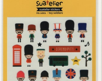 Suatelier * Toy Soldiers * London * Phone Box * Double Decker Bus * Sticker Set * Japanese Stationery