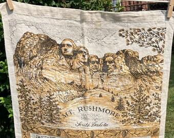 Mt Rushmore National Memorial * South Dakota * 1975 * Vintage Calendar Tea Towel