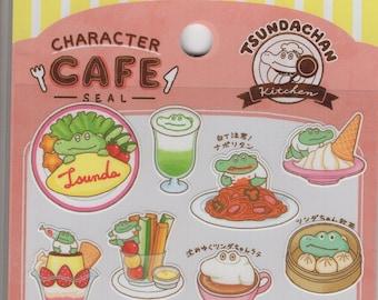 Mind Wave * Character Cafe * Tsundachan * Mr. Crocodile * Food * Japanese Sticker Set