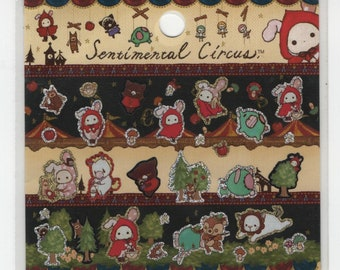 San-X Sentimental Circus Stickers with Gold Foil Accents Little Red Riding Hood - B