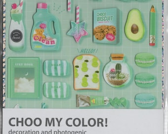 Q-Lia * Choo My Color * Mint Photogenic * Stickers * Japanese Stationery