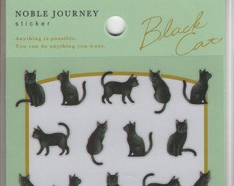 Mind Wave * Black Cat * Noble Journey * Japanese Sticker Set