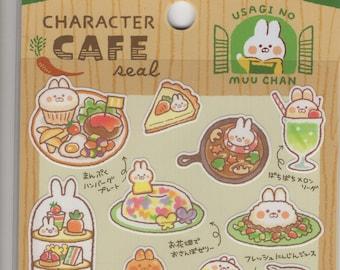 Mind Wave * Character Cafe * Rabbit * Vegetables * Usagi No Muu Chan  * Japanese Sticker Set