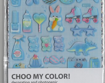 Q-Lia * Choo My Color * Blue Photogenic * Stickers * Japanese Stationery