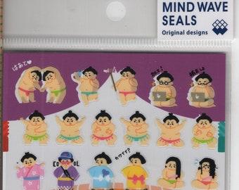 Mind Wave * Sumo Wrestlers * Japanese Sticker Set