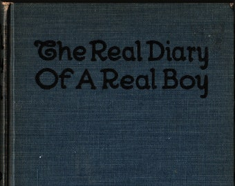 The Real Diary of a Real Boy + Henry A. Shute + The Reilly & Lee Company + 1906 + Vintage Kids Book