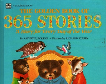 The Golden Book of 365 Stories + Kathryn Jackson + Richard Scarry + Random House + 1991 + Vintage Kids Book