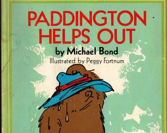 Paddington Helps Out + Michael Bond + Peggy Fortnum + Dell Publishing Co. + 1981 + Vintage Kids Book
