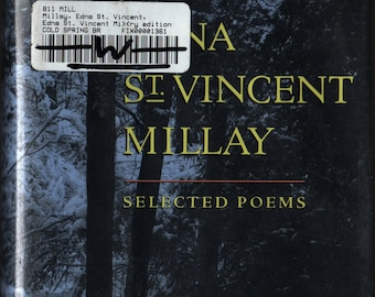 Selected Poems + Centenary Edition + First Edition + Edna St. Vincent Millay + Harper Collins Publishers + 1991 + Vintage Poetry Book