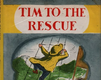 Tim to the Rescue * Edward Ardizzone * Henry Z. Walck, Inc. * 1949 * Vintage Kids Book