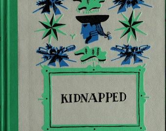Kidnapped * Junior Deluxe Edition * Robert Louis Stevenson * Tom O'Sullivan * Nelson Doubleday * 1954 + Vintage Kids Book
