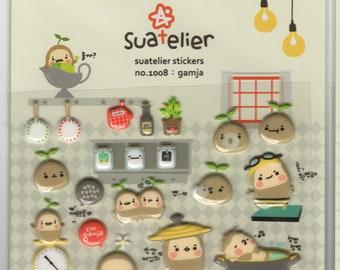 Suatelier * Gamja * Japanese Sticker Set