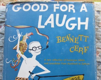 Good For a Laugh * Bennett Cerf * Doug Anderson * Hanover House * 1961 * Vintage Humor Book