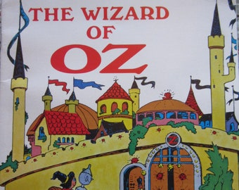 The Wizard of Oz + Carol Joan Drexler + Janet and Alex D'Amato + Educational Reading Service + 1970 + Vintage Kids Book