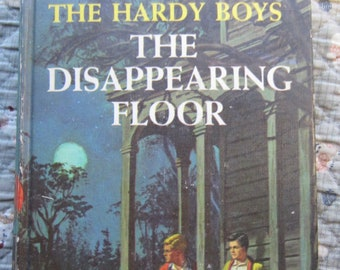 The Disappearing Floor + The Hardy Boys + Franklin W. Dixon + Grosset & Dunlap + 1940 + Vintage Mystery Book
