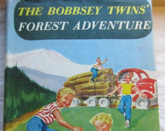 The Bobbsey Twins Forest Adventure * Laura Lee Hope * Grosset & Dunlap * 1957 * Vintage Kids Book