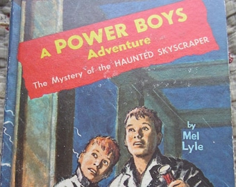 The Mystery of the Haunted Skyscraper A Power Boys Adventure * Mel Lyle * Raymond Burns * Whitman Publishing * 1964 * Vintage Mystery Book