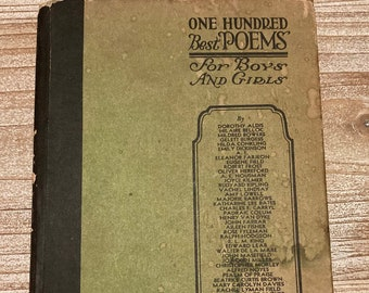 One Hundred Best Poems for Boys and Girls * Marjorie Barrows, editor * Paula Rees Good * Whitman Publishing * 1930 * Vintage Kids Book