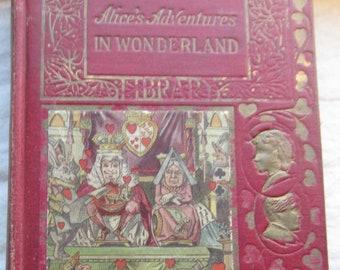 Alice's Adventures in Wonderland * Young Folks Library * Lewis Carroll * John Tenniel * Vintage Kids Book