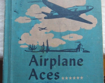 Airplane Aces * Adventures with Numbers * Christine Chisholm * Webster Publishing Company * 1948 * Vintage Text Book