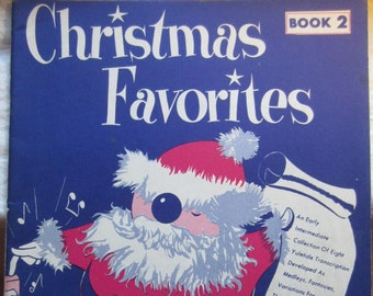 Christmas Favorites Book 2 * Shattinger * 1958 * Vintage Music Book