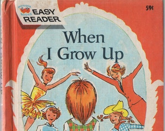 When I Grow Up * Jean Bethel * Ruth Wood * Wonder Books * 1965 * Vintage Kids Book